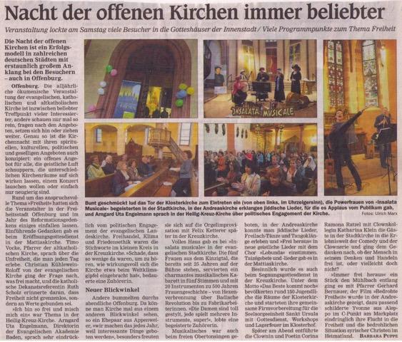 Performance Kirche Zeitung