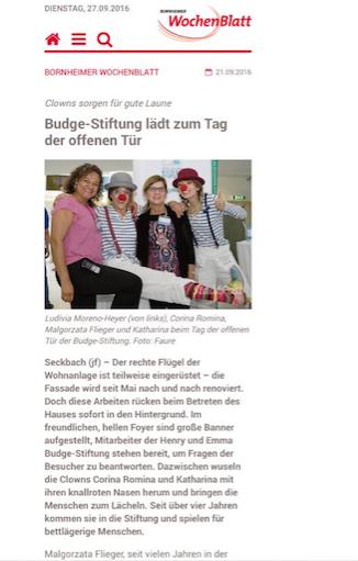 Klinik Clowns Zeitungsartikel