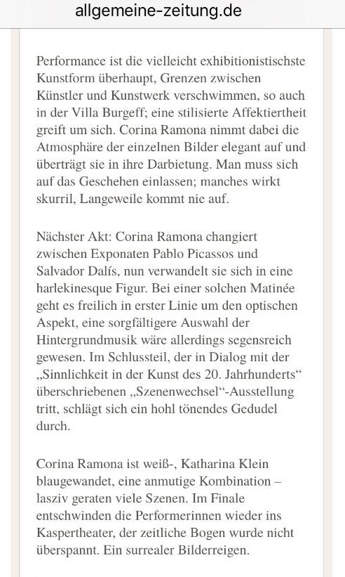 Allgemeine Zeitung Artikel